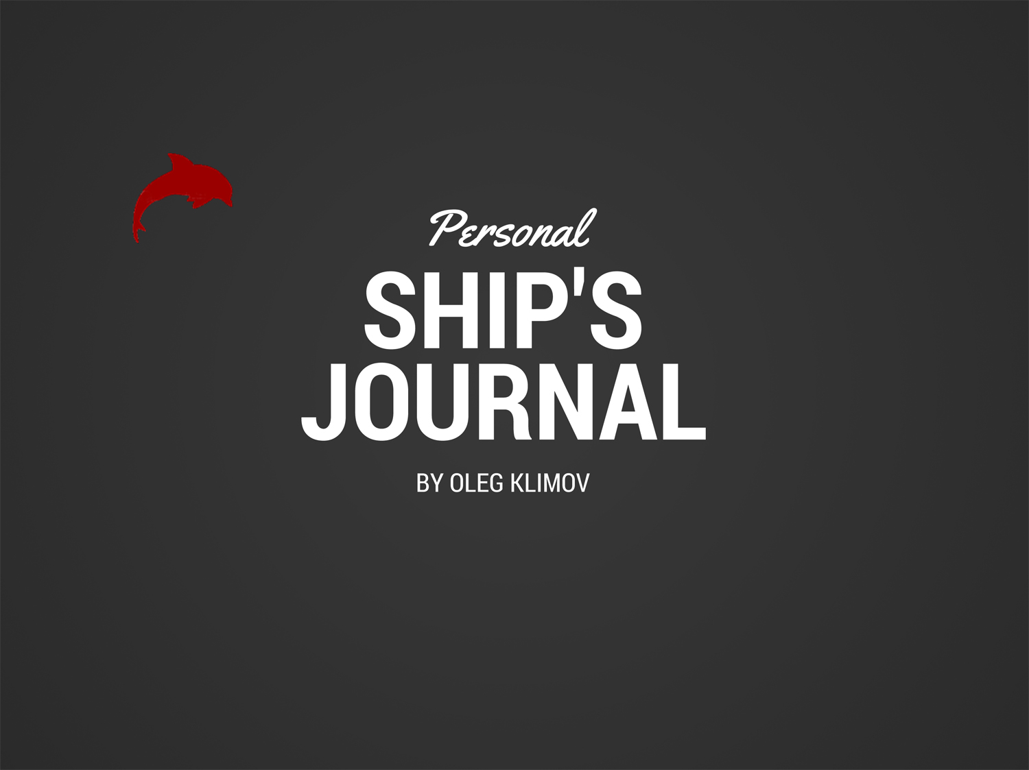 Ship's journal by Oleg Klimov